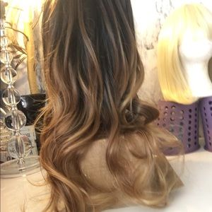new full synthetic ombré wig (no lace front )